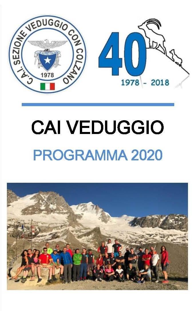 Programma della sezione per l'anno 2020