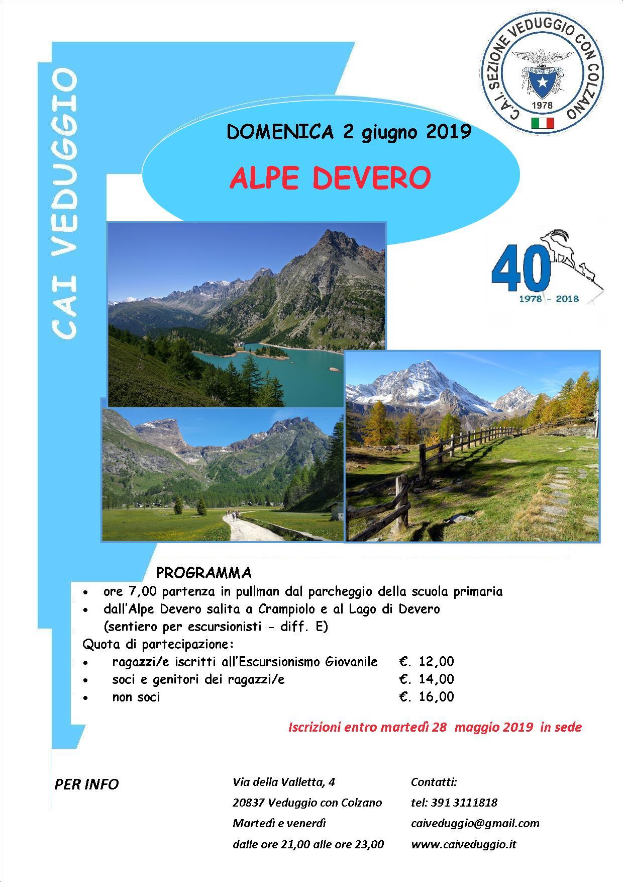 Domenica 2 giugno 2019 – Alpe Devero