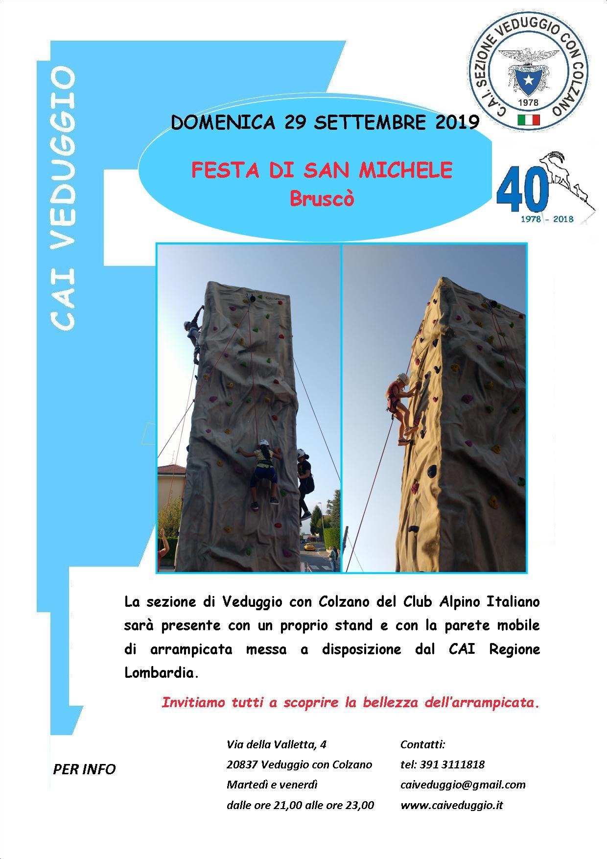Domenica 29 settembre 2019 – Festa di San Michele nel rione Bruscò