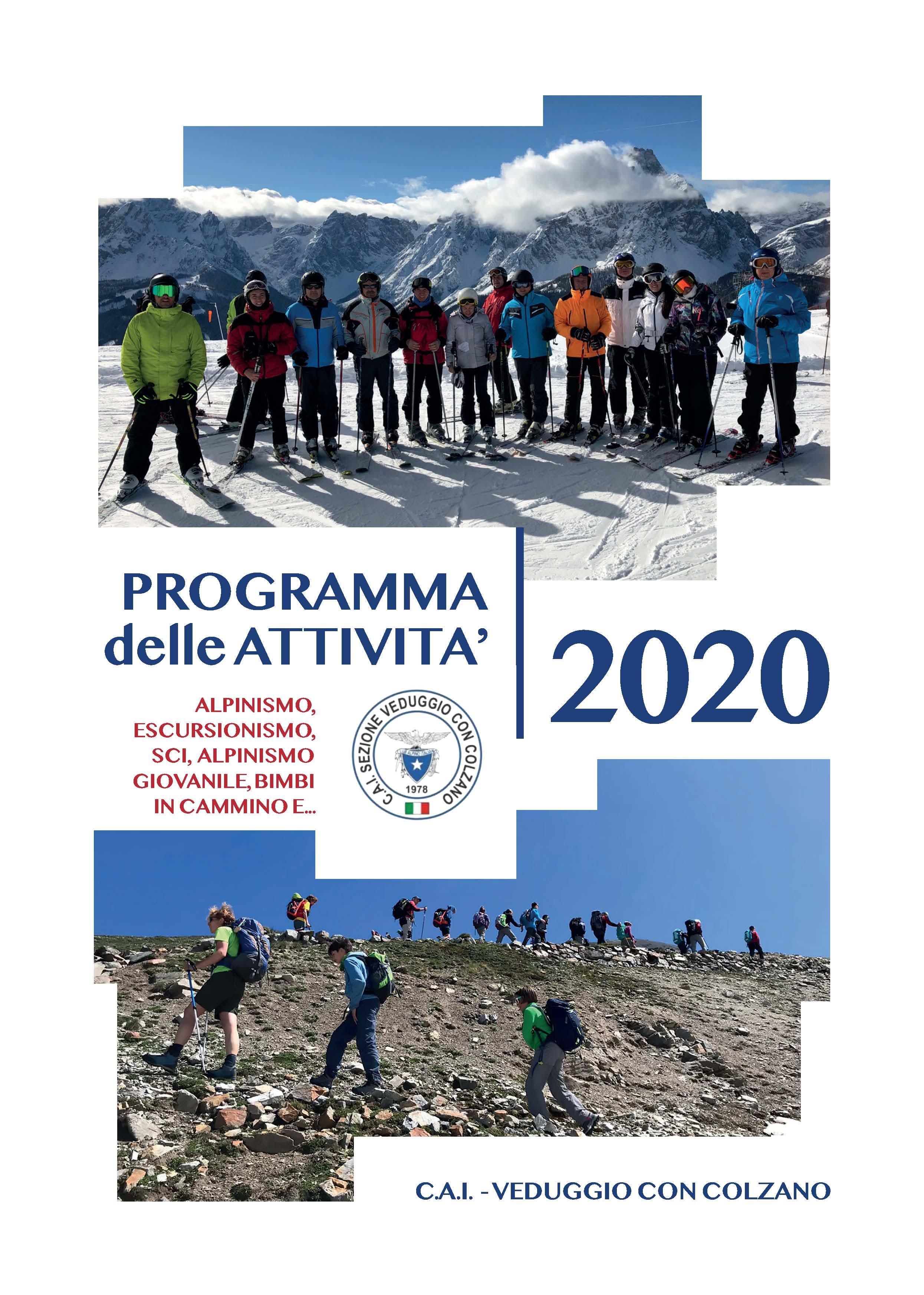 Fascicolo completo del programma della sezione per l'anno 2020