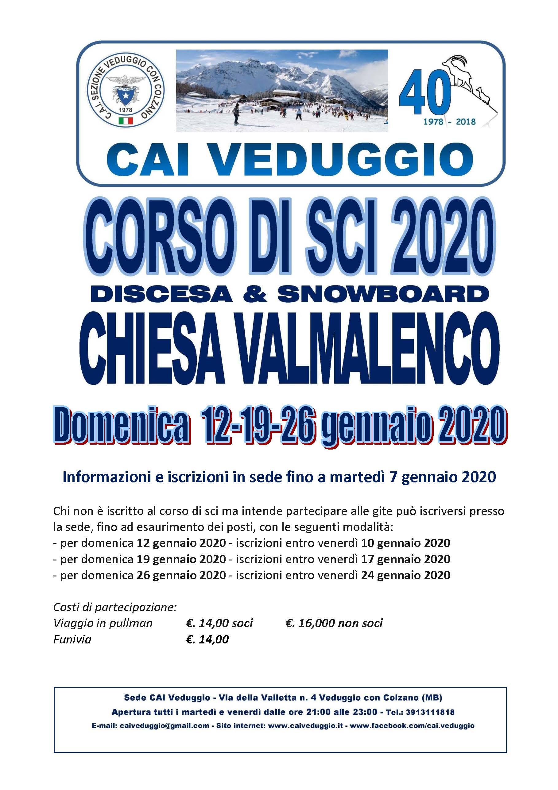 Chiesa Valmalenco 12-19-26 gennaio 2020